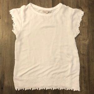 LOFT size M white lace top